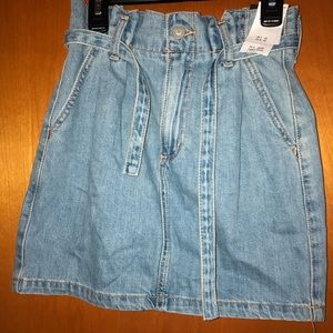 Hollister mini denim skirt